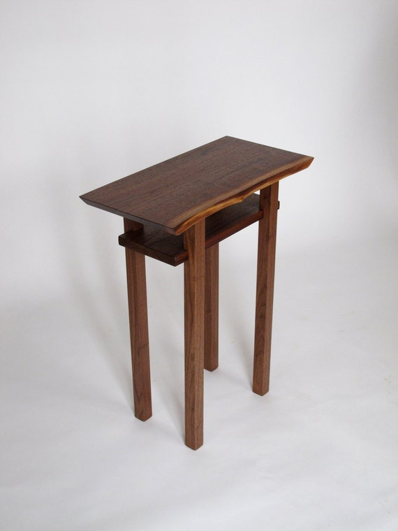 Live Edge Side End Table Small Accent Table Bed Side Table Etsy