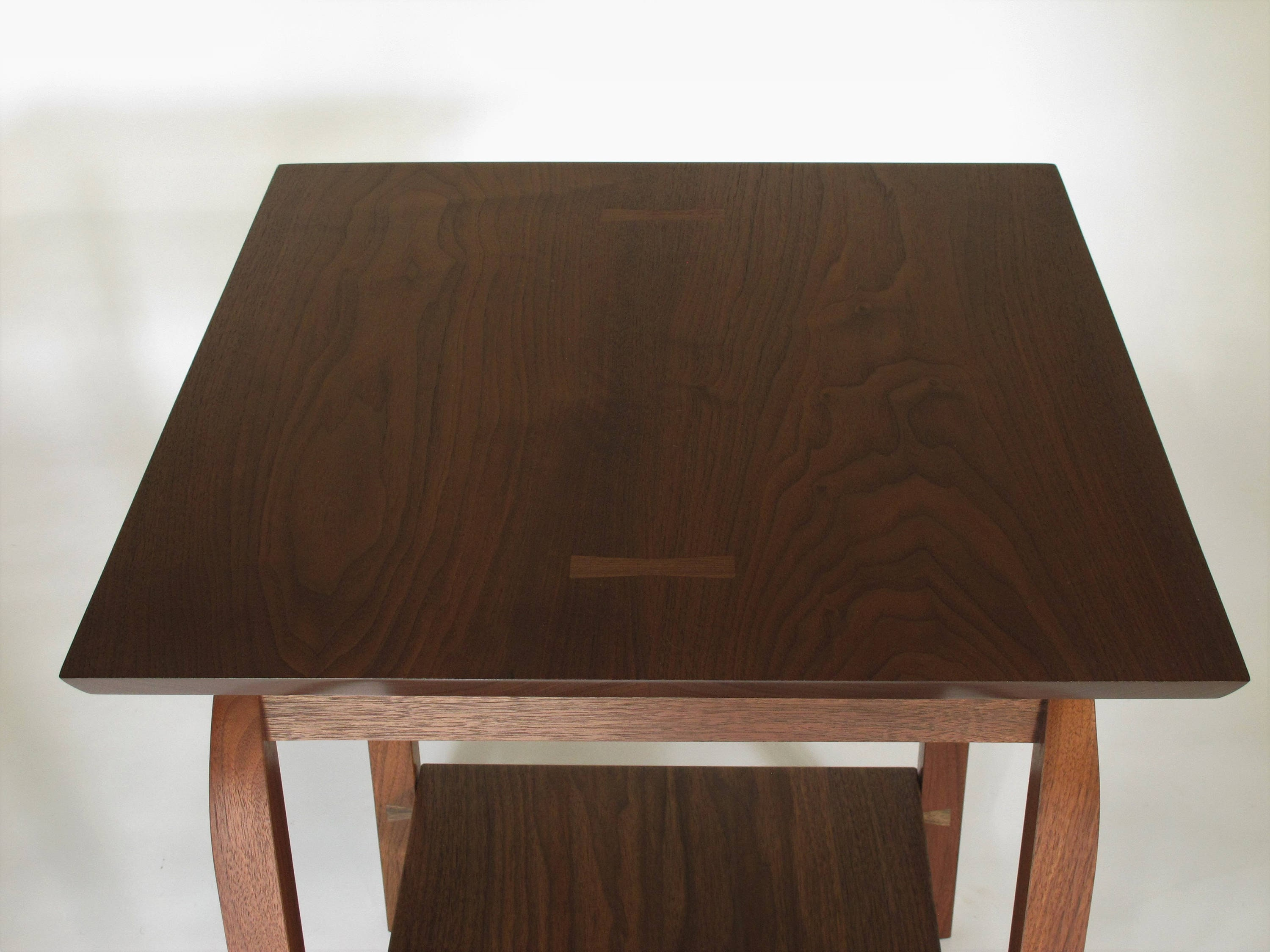 Almost Square Side Table Wood Accent Furniture For Living Etsy