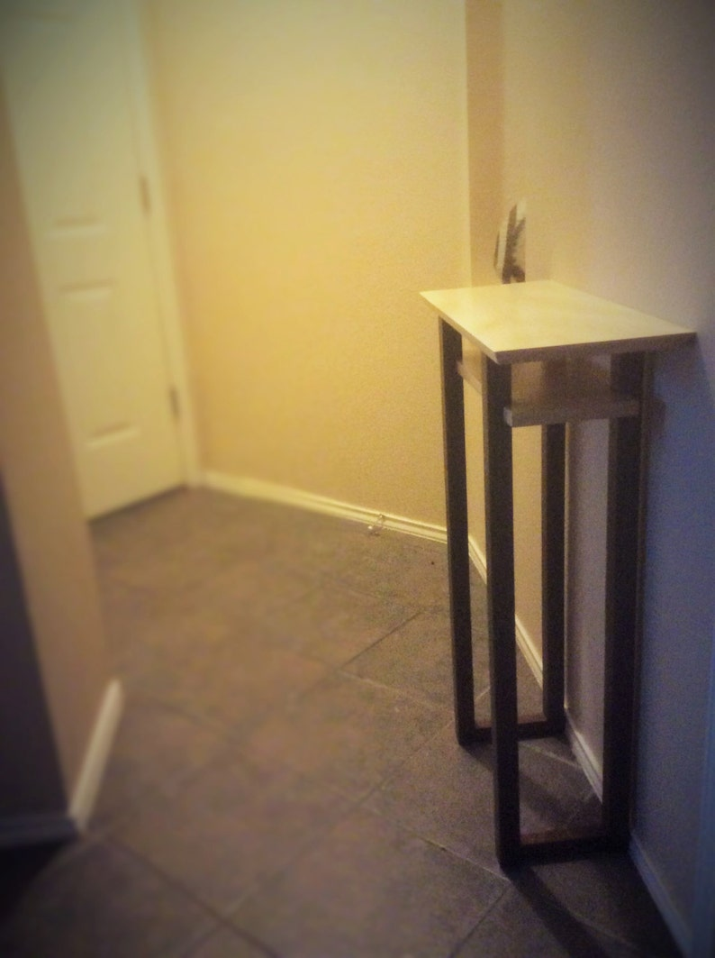 Tall Narrow Table For Small Spaces: Wood Entry Table, Small Hall Table,  Tall Console Table  Handmade Custom Tables/ Modern Wood Furniture