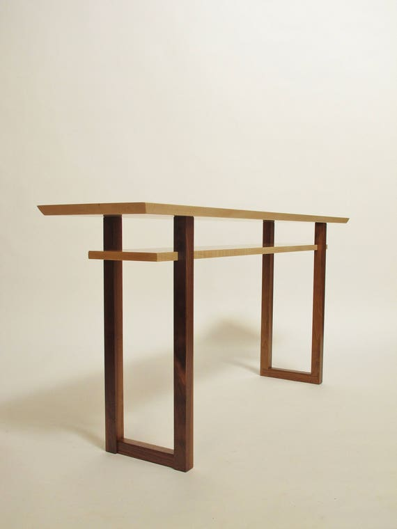 Remarkable Contemporary Long Low Console Table Narrow Sofa Table Mid Century Modern Entry Table Handmade Wood Furniture Inzonedesignstudio Interior Chair Design Inzonedesignstudiocom