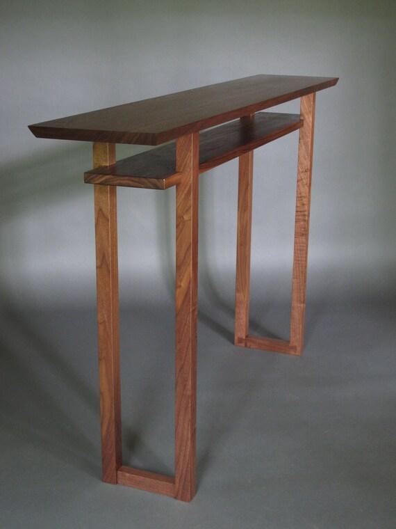 Modern Wood Narrow Hallway Table: Narrow Console Table