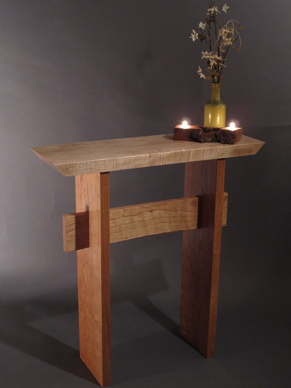 Small Console Table For Front Door Mid Century Modern Zen Etsy