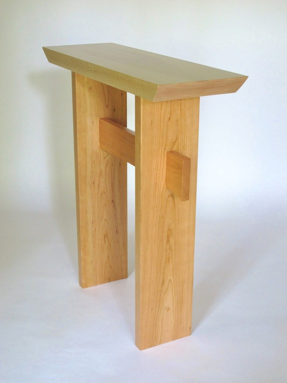 Fine Small Narrow Side Table Wood Entry Table Console Table Narrow Hall Table Handmade Custom Furniture Statement Collection Interior Design Ideas Inesswwsoteloinfo