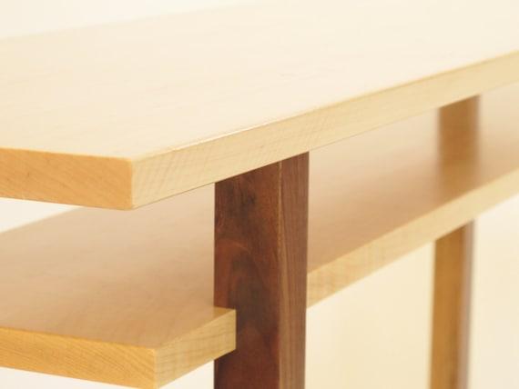Miraculous Contemporary Long Low Console Table Narrow Sofa Table Mid Century Modern Entry Table Handmade Wood Furniture Inzonedesignstudio Interior Chair Design Inzonedesignstudiocom