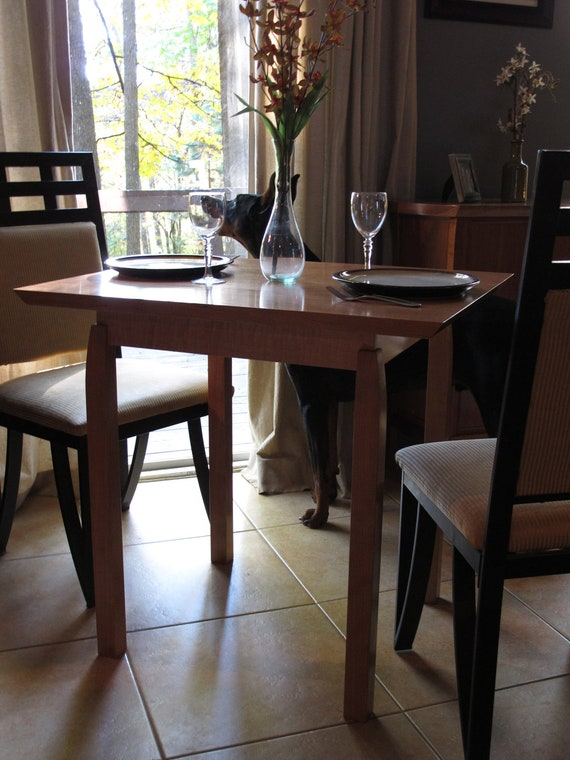 Narrow Dining Table for Two: Small Kitchen Table, for Breakfast Nook/ Card  Table- Handmade Wood Furniture