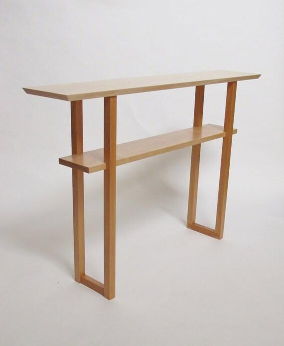 Minimalistische Moderne Holz Sofa Tisch Mit Ablage Schmalen Etsy