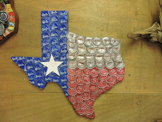 Soda Bottle Cap Texas Flag with Sprite vintage CocaCola and  5a02c601e