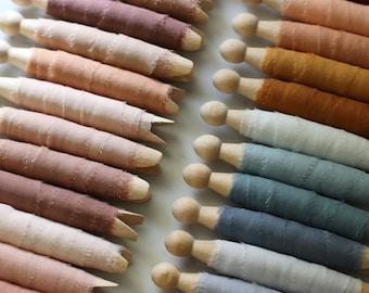 NEW Hand Dyed Silk CHIFFON Ribbon Raw Edge