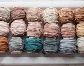NEW RECYCLED Silk Ribbon - 10 YARD Rolls