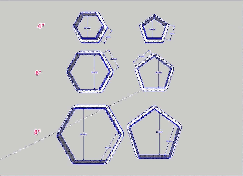 Futbol bola patrón cortadores disponibles en varios patrones | Etsy
