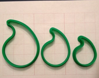 Paisley cookie cutter set of 3
