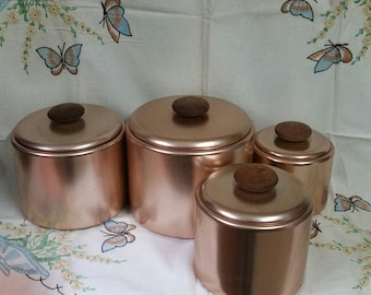 Mirro Copper Colored Aluminum Canisters