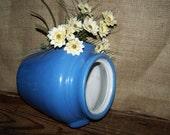 Blue Crock Jug Vintage Blue Stoneware Jug Farm Kitchen Decor