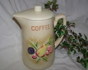 Coffee Pot Royal Sealy Coffee Pot Vintage Ceramic Coffee Pot