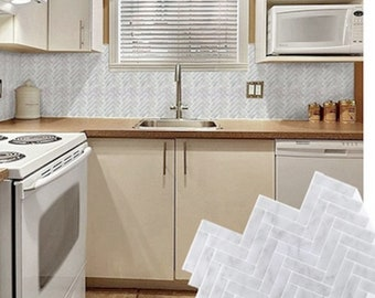 Removable Wallpaper Kitchen Backsplash Peel And Stick Etsy