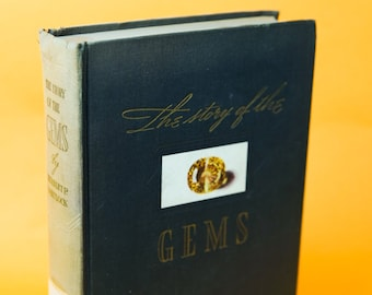 Antique Book, Gems, Crystals, The Story of the Gems, Quartz, Stones, 1940s, Vintage Books, Stones Gifts, Gem Gifts
