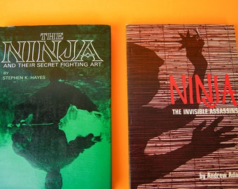 Vintage Books Bundle, Ninja, Japanese, Japan, The Ninja and their Secret Fighting Art, Gifts for Men, Japanese