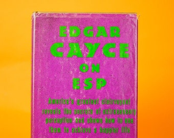 Edgar Cayce on ESP, Collectible Books, New Age, Psychic, Vintage Books, ESP, Tarot, New Age Gifts, Paranormal, Astrology Gifts, Unique Gifts