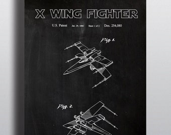 X wing blueprint etsy star wars print poster patent star wars gift art print x wing fighter black blueprint 11x14 star wars art wall decor wall art malvernweather Images