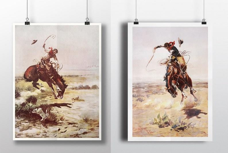 Cowboy Print Western Decor Desert Decor Wall Art Art image 0