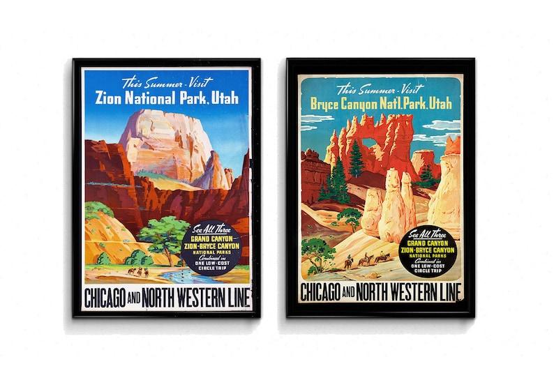 Two Print Bundle Zion National Park Bryce Canyon National Park image 0
