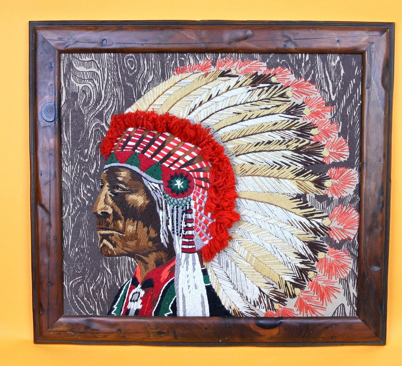 Southwestern Decor Native American Vintage Embroiderd image 0