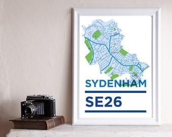 south london postcodes map