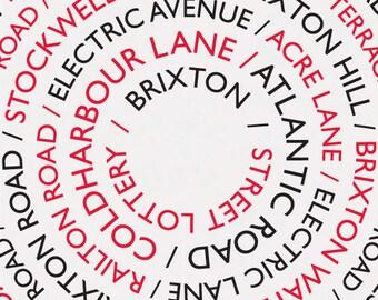 Brixton Street Lottery / Brixton Print, Brixton Poster, A3 Print, Brixton Streets, Brixton Roads, London Print, South London Print