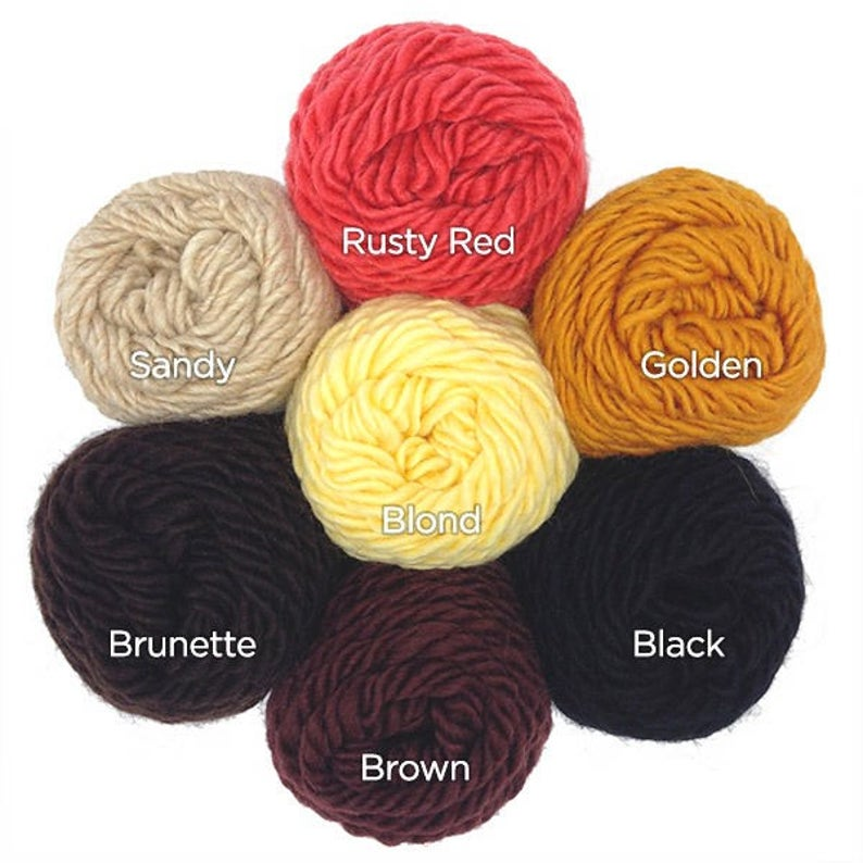 Lamb/'s Pride Wool Yarn Doll Hair Colors for Joy/'s Waldorf Dolls Pepper /& Pine Peg Dolls