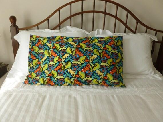 n on l zard flanelle imprim taie doreiller taille standard etsy. Black Bedroom Furniture Sets. Home Design Ideas