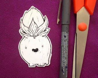 cute flower handmade sticker