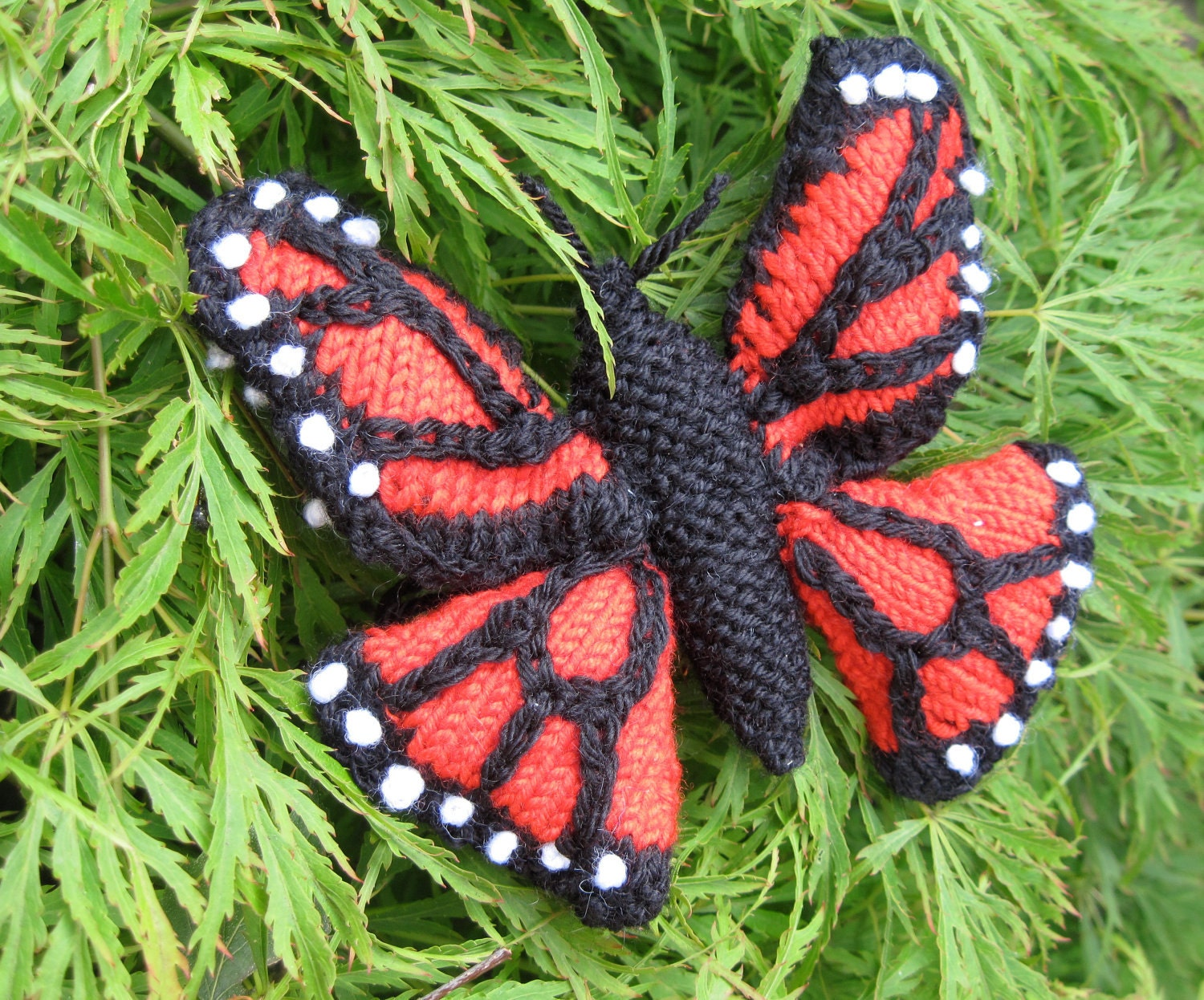 Monarch Butterfly Knitting Pattern from GinxCraft on Etsy Studio