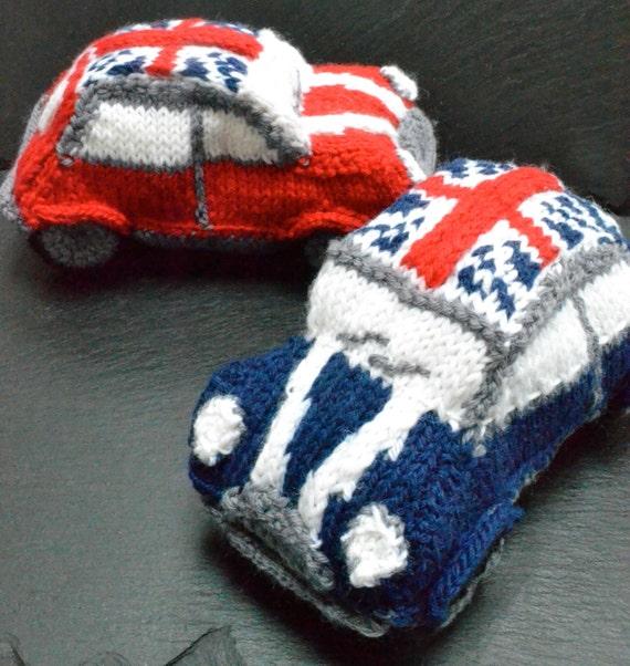 Mini Cooper Knitting Pattern | Etsy