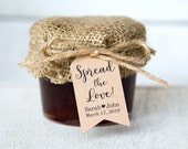 Spread the Love Tag - Wedding Favor Tags - Jam Wedding Favors - Spread Wedding Favors - Marmalade Favors - Honey Wedding Favors - SMALL