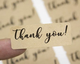 Thank You Stickers - Thank You Labels - Small Business Packaging - Stickers - Labels - 60 Pieces