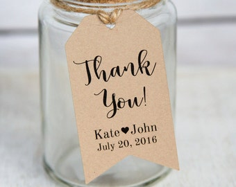 Thank You Tag - Wedding Favor Tags - Wedding Favor Ideas - Custom Tags - Personalized Tags - Party Favors - Thank You Tags - MEDIUM