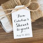 Bridal Shower Tags - Baby Shower Favors - Soap Favor - Bath Bomb Favor - Bath Favor - Bridal Shower Favor Ideas - MEDIUM