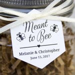 Meant to Bee Tag - Hexagon Tag - Honey Wedding Favor Tags - Honey Jar Wedding Favors - Honey Jar - Wedding Favor Tags - Hex Tags