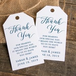 Thank you for sharing our special day - Wedding Favor Tags - Custom Tags - Wedding Labels - Wedding Favor Ideas - Personalized Tags - SMALL