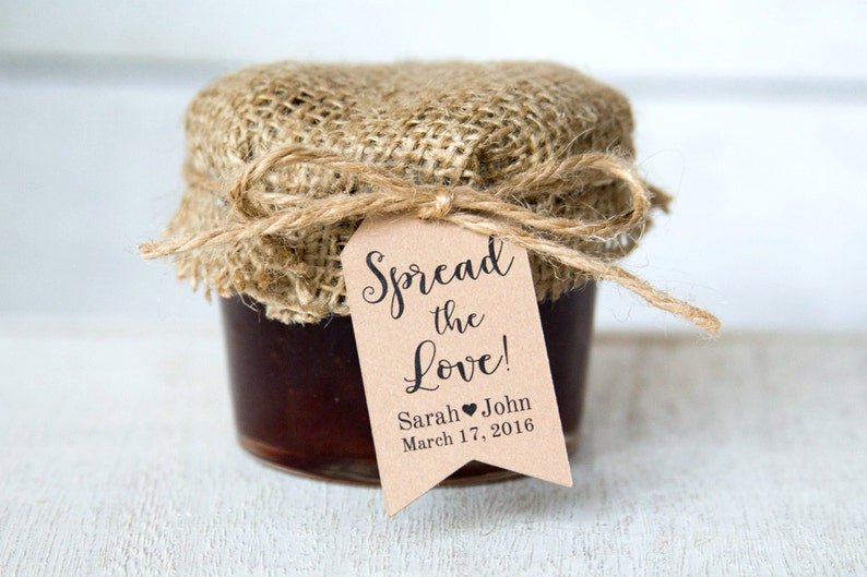 Spread the Love Tag  Wedding Favor Tags  Jam Wedding Favors image 0