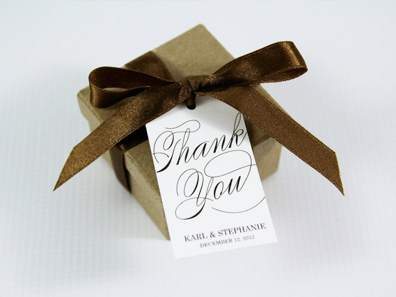 Wedding Thank You Tag  Wedding Favors  Thank You Wedding image 0