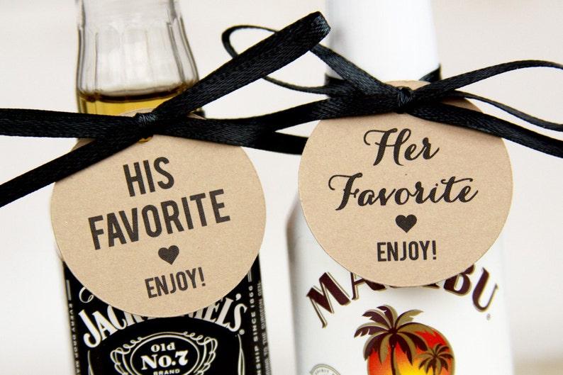His Favorite  Her Favorite  Wedding Favor  Wedding Favor image 0