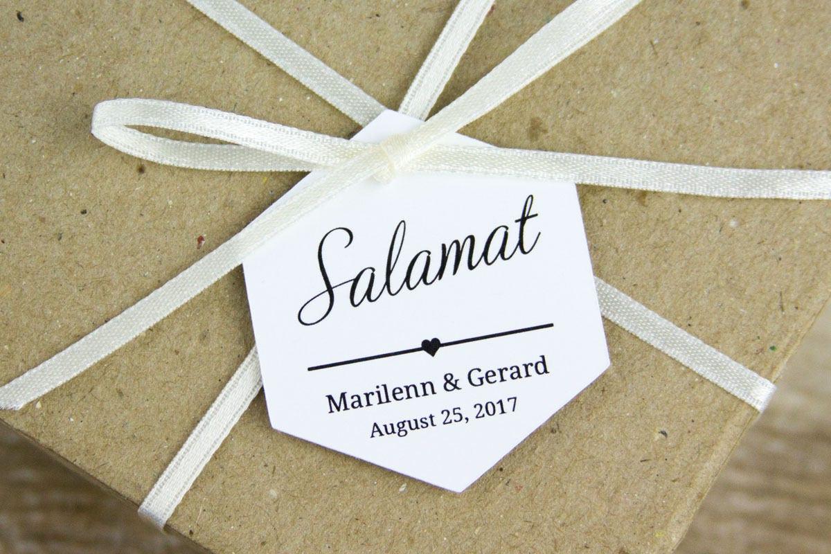 Salamat Tags Thank You tags Filipino Wedding Wedding