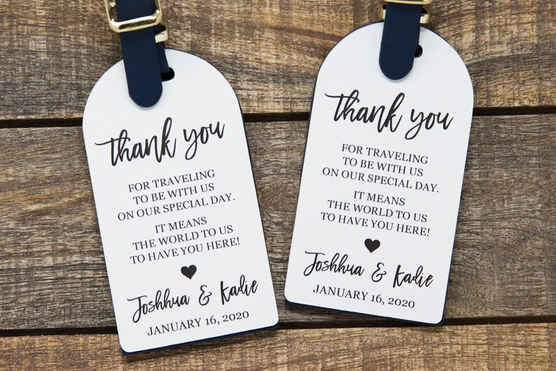 Thank You Tag  Wedding Favor Tag  Luggage Favor Tag  image 0