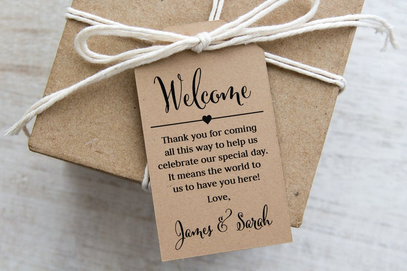 Welcome Thank You for Coming Tag  Welcome Gifts  Welcome image 0