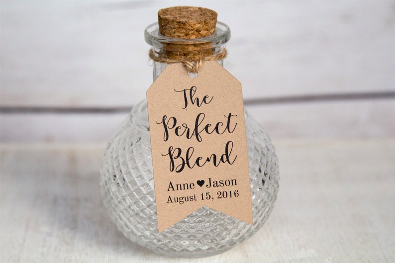 The Perfect Blend  Wedding Favor Tags  Coffee Wedding Favors image 0