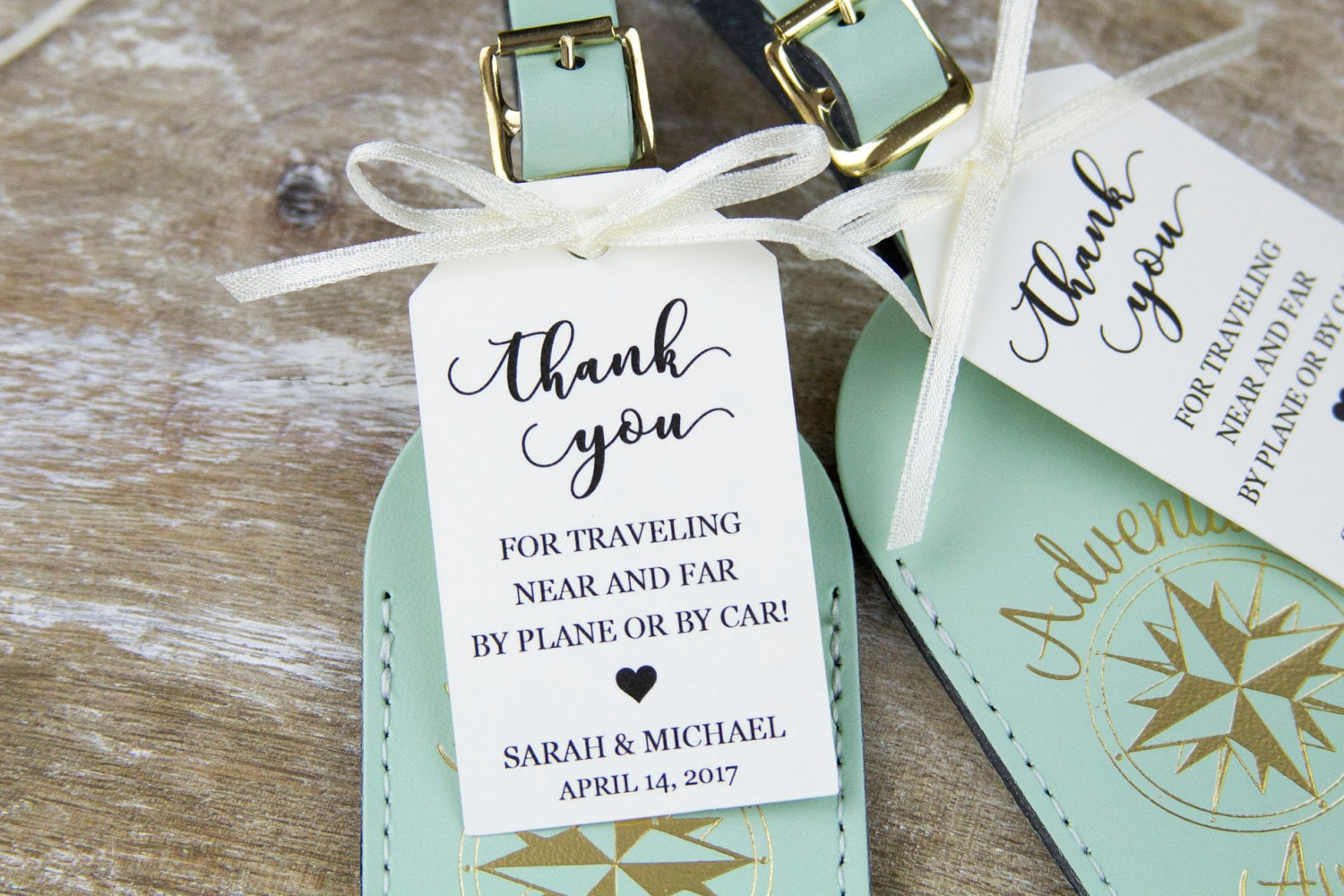 Personalized Luggage Tags Wedding Gift: Thank You Tag Wedding Favor Tag Luggage Favor Tag