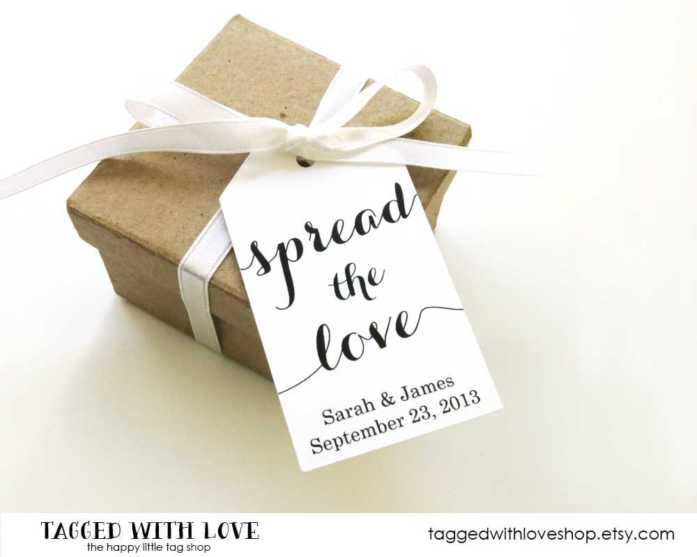 Spread the Love Tag Jam Wedding Favor Honey Wedding Favor