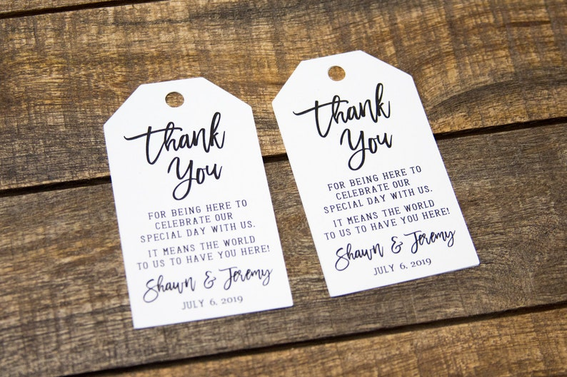 Thank You Tags  Wedding Favor Tag  Luggage Favor Tags  image 0