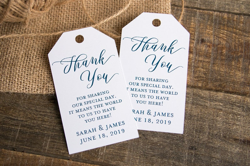 Thank you for sharing our special day  Wedding Favor Tags  image 0